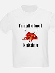 I'm All About Knitting! Kids T-Shirt