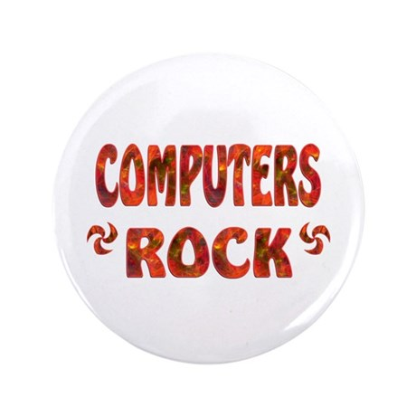 """Computers Rock 3.5"""" Button (100 pack)"""