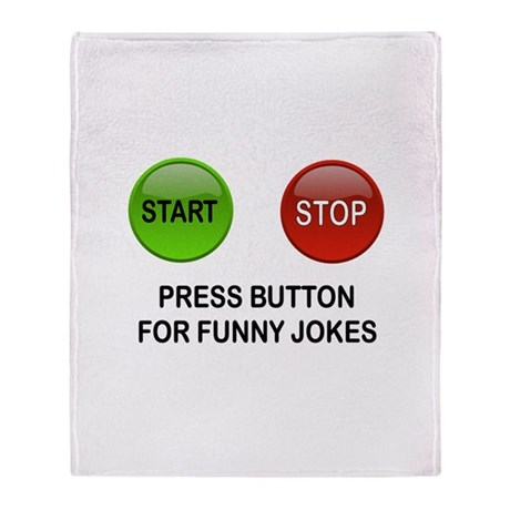 GET READY TO LAUGH Throw Blanket