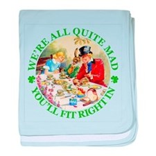 WE'RE ALL MAD - RENE CLOKE baby blanket