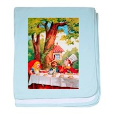 The Mad Hatter's Tea Party baby blanket