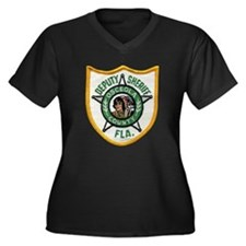 Osceola Deputy Sheriff Women's Plus Size V-Neck Da