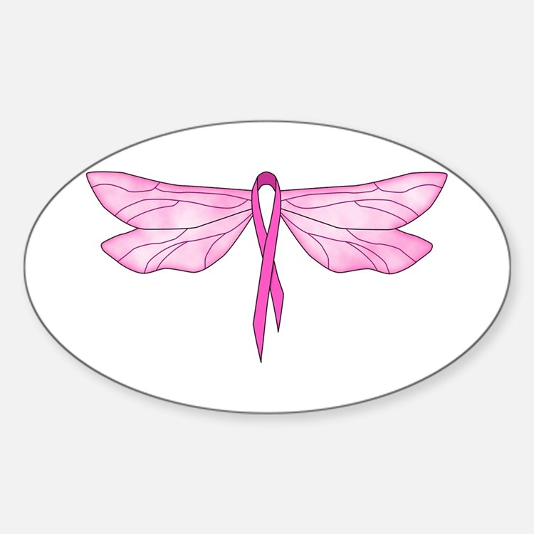 Breast Cancer Dragonfly Decal