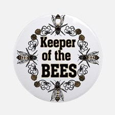 Keeping the Bees Ornament (Round)