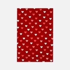 Valentine's Day Hearts Patter Rectangle Magnet