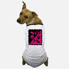 VALENTINE STAMP : pink roses Dog T-Shirt