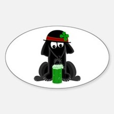 Lucky Lab Oval Decal