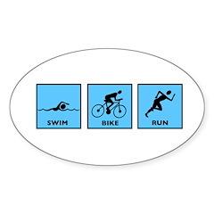 Swim Bike Run Decal