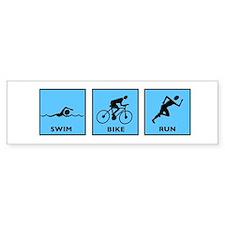 Swim Bike Run Bumper Sticker