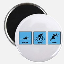 "Swim Bike Run 2.25"" Magnet (10 pack)"