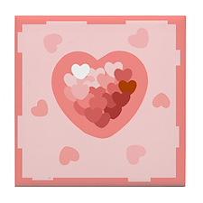 HEART {26} : lt pink Tile Coaster