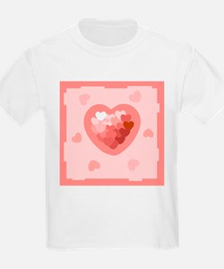HEART {26} : lt pink T-Shirt