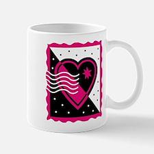 VALENTINE STAMP : pink/black Mug