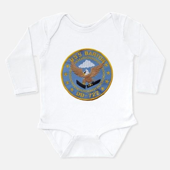 USS BARTON Long Sleeve Infant Bodysuit