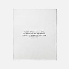 Drummer / Genesis Throw Blanket