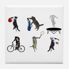 Sports Cats Tile Coaster