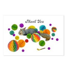 Party's Over Squirrel Postcards (Package of 8)