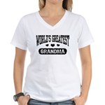 World's Greatest Grandma Women's V-Neck T-Shirt