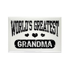 World's Greatest Grandma Rectangle Magnet