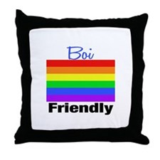 Boi Friendly Throw Pillow