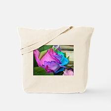Tote Bag - Unique Multi-Colored Rose