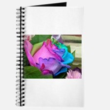 Journal - Unique Multi-Colored Rose on cover