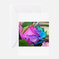Greeting Card - Unique Multi-Colored Rose