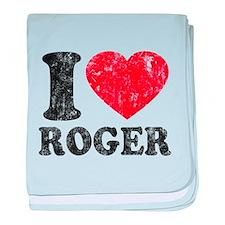 I (Heart) Roger baby blanket
