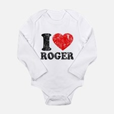 I (Heart) Roger Long Sleeve Infant Bodysuit