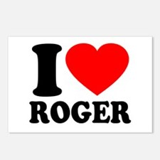 I (Heart) Roger Postcards (Package of 8)