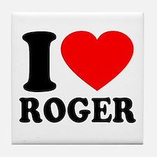 I (Heart) Roger Tile Coaster