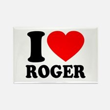 I (Heart) Roger Rectangle Magnet