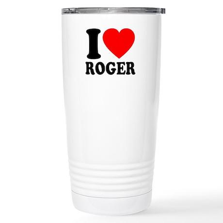 I (Heart) Roger Stainless Steel Travel Mug