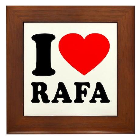 I (Heart) Rafa Framed Tile