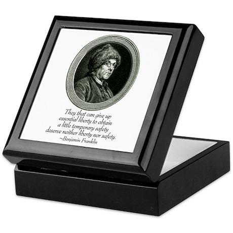 "Ben Franklin ""Liberty"" Keepsake Box"