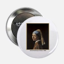 Vermeer Girl with Pearl Earring Button