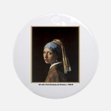 Vermeer Girl with Pearl Earring Ornament (Round)