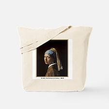 Vermeer Girl with Pearl Earring Tote Bag