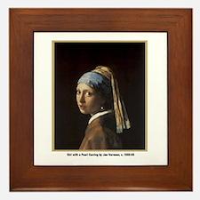Vermeer Girl with Pearl Earring Framed Tile