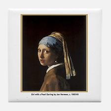 Vermeer Girl with Pearl Earring Tile Coaster