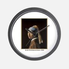 Vermeer Girl with Pearl Earring Wall Clock