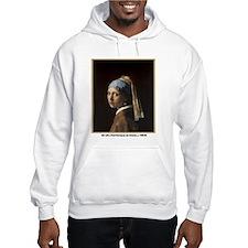 Vermeer Girl Pearl Earring (Front) Hoodie