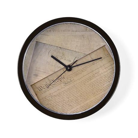 Constitution/Bill Of Rights Wall Clock