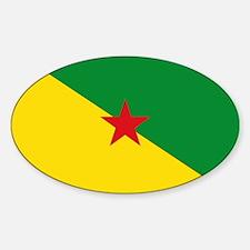 Guiana Flag Sticker (Oval)
