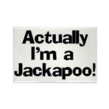 Actually I'm A Jackapoo Rectangle Magnet
