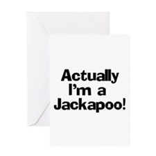 Actually I'm A Jackapoo Greeting Card