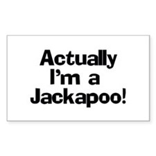 Actually I'm A Jackapoo Decal
