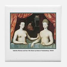 Gabrielle Nude Women Tile Coaster
