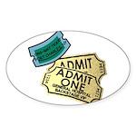 GH TICKETS Sticker (Oval)