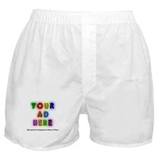 """""""Ads for Beer & Pizza"""" Boxer Shorts"""